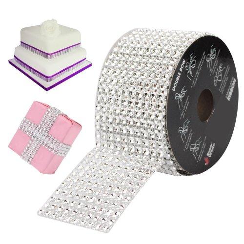 2m x 5cm Diamante Effect Ribbon. - Ribbon Decorative 4 -  x ribbon 2m effect diamante decorative 45cm