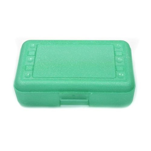 Romanoff Products ROM60285BN 8.5 x 5.5 x 2.5 in. Pencil Box, Lime Sparkle - 12 Each