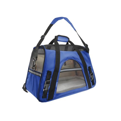 Pet Carrier Soft Sided Travel Bag for Small dogs & cats- Airline Approved, Blue #1