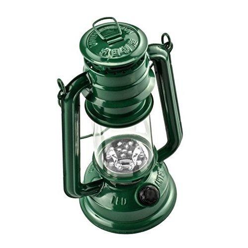 SE FL805-15G 15-LED Green Hurricane Lantern with Dimmer Switch