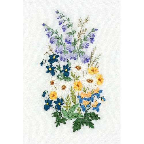 Panna Silk Ribbon Embroidery Kit - C-1457 Garden Lyricism