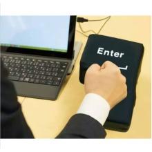 Big USB Enter Key Button Anti Stress Relief Unbreakable Soft Pillow