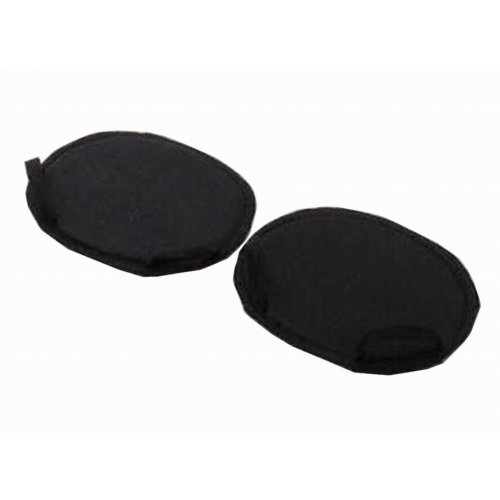 3 Pairs Forefoot Pads Invisible High-heeled Shoes Insoles Cushions 2 Toes Black
