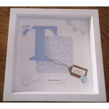 Personalised Baby Birth Date Frame | Customised Christening Frame