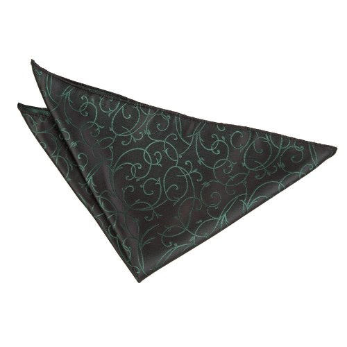 Black & Green Swirl  Pocket Square