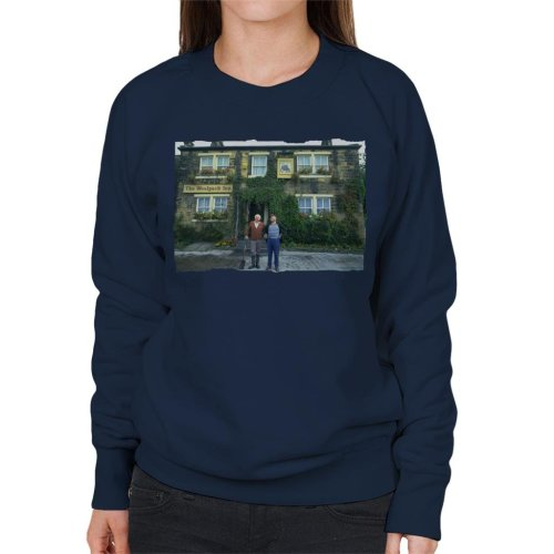 78d79e5c15f TV Times Amos Brealy And Henry Wilks Outside The Woolpack Emmerdale Women's  Sweatshirt