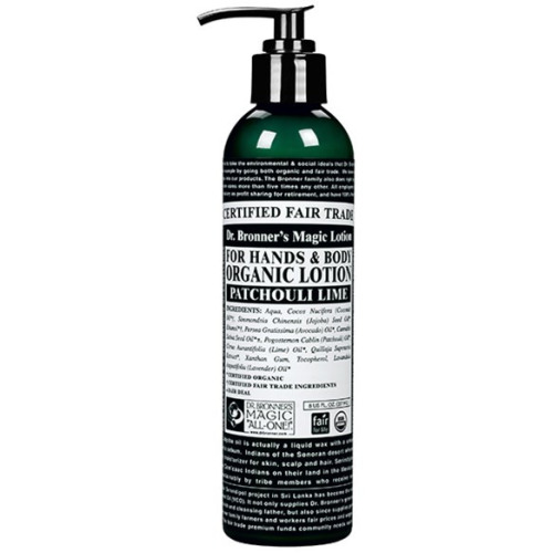 Dr Bronner Org Patchouli Lime Lotion 236ml