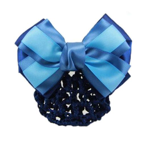 Elegant Ladies Hairnet Bowtie Barrette Hair Clip Snood Net Professional Hairdressing, A