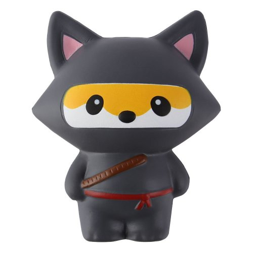Anboor Squishies Ninja Fox Squishy Slow Rising Squeeze Toy Kawaii Scented