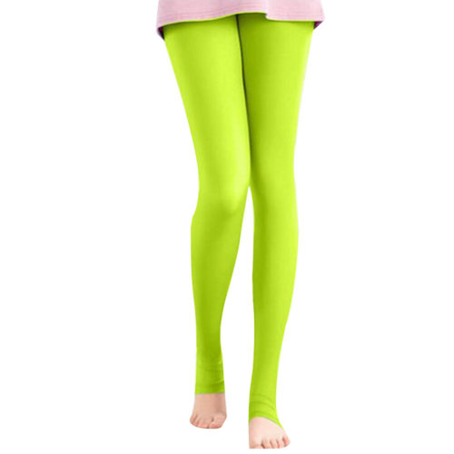 Golf Clothing Pants Sport Leggings Womens Golf Clothes Stirrupped Yellow Green