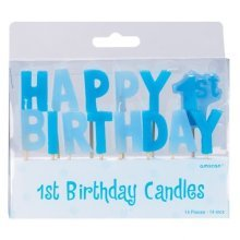 Happy 1st Birthday Boy Pick Candles - Accessories INT179635
