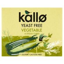 Kallo  Vegetable Stock Cubes - Yeast Free 66g