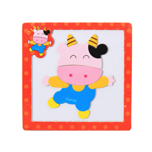 Wooden With Magnet Jigsaw Puzzle Children's Games Toys,cattle