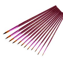 12 PCS Purple Brush Gouache Watercolor Painting Brush