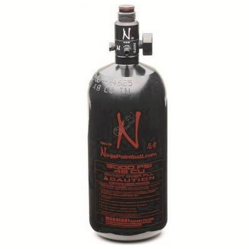 Ninja 48/3k Aluminum HPA Paintball Tank BLACK