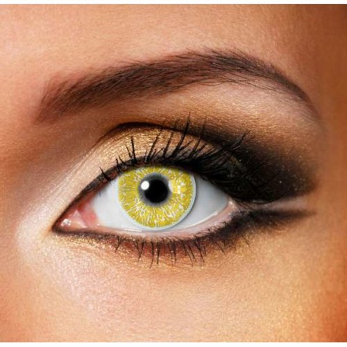 Gold Glimmer Contact Lenses (Pair) - Coloured Contact Lenses