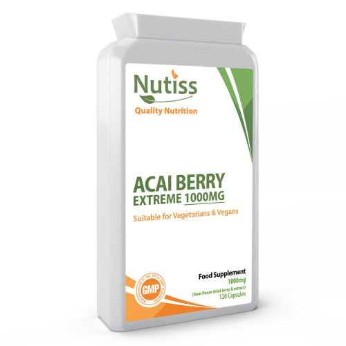 Acai Berry Extreme 1000 Pure Detox 120 Capsules Dietary Aid Supplement