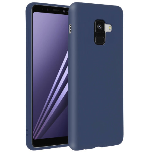 Forcell case for Samsung Galaxy A8, soft touch cover, silicone case – Navy Blue