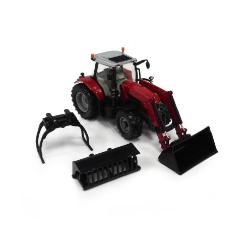 Britains 1:32 Massey Ferguson 6616 Tractor with Front Loader - Collectable Farm Vehicle Toy - Suitable From 3 years