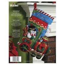"Bucilla Felt Stocking Applique Kit 18"" Long-Candy Express"