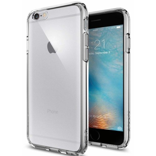 purchase cheap f3efe f14b4 Spigen iPhone 6S Case, [AIR CUSHION] iPhone 6S Case Bumper **NEW** [Ultra  Hybrid] [Space Crystal] Clear back panel + TPU bumper for iPhone 6S...