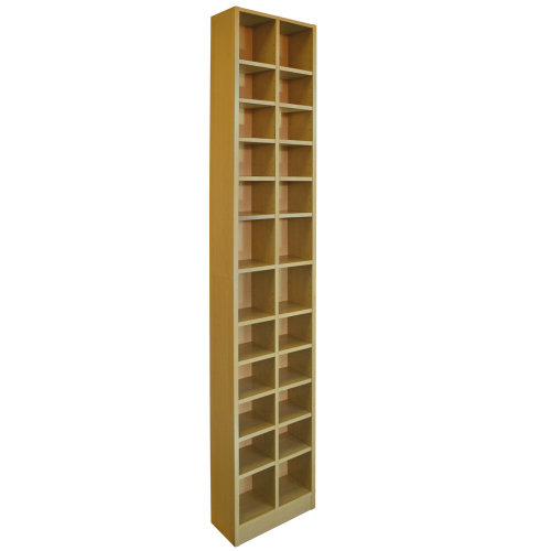 BLOCK - Tall Sleek 360 CD / 160 DVD Media Storage Tower Shelves - Oak