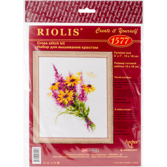 """Bouquet With Coneflowers Counted Cross Stitch Kit-6""""X8"""" 14 Count"""