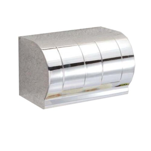 Stainless Steel Toilet Paper Holder Full Covered Wall-Mounted Holder #2