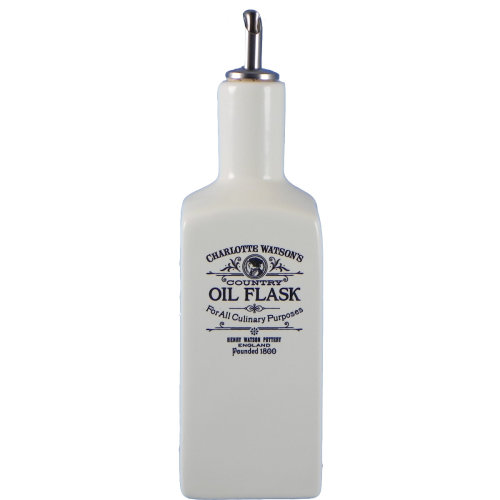 Oil Flask in Cream by Charlotte Watson