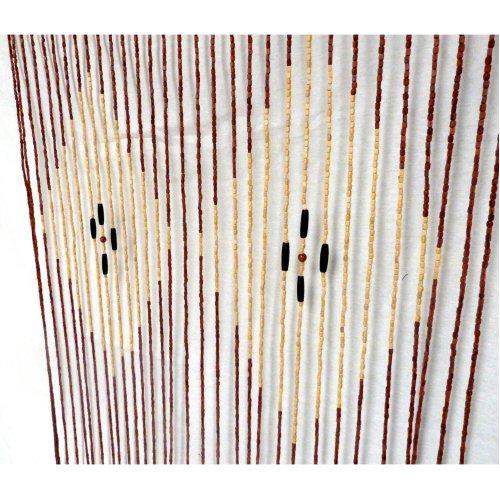 Beaded Door Curtain String Curtain Blinds Divider BAMBOO WOOD DIAMOND