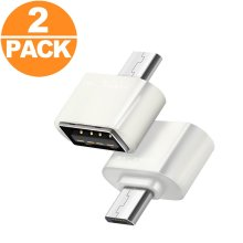 Act Micro USB OTG to USB Adapter Micro USB Male OTG to USB Female B Adapter USB On The Go Adapter (2 x White)