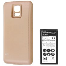 Battery for Samsung Galaxy S5 6500 mAh Replacement Battery + Housing - Gold