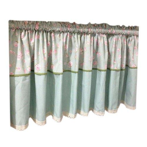 Lovely Cafe Curtain Window Valance/Floral Curtain, Light Blue(170*60 cm)