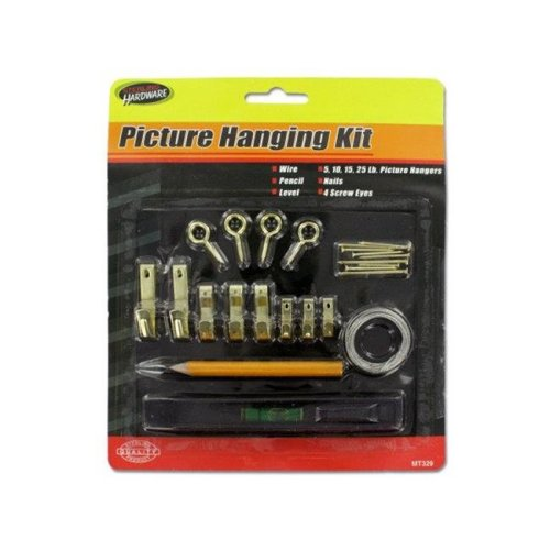 Kole Imports MT329-75 Picture Hanging Kit with Level, Pack of 75