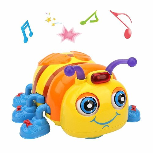 LUKAT Musical Baby Toy for 1, 2, 3 Years Old Toddlers, Crawling and Singing Bee Toys