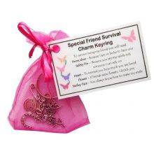 Special Friend Survival Charm Keyring - Handmade Special Friend Gift for Friend (Friend Birthday Gift, Friend Christmas Gift)