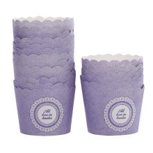Baking Cups Small Size Maffin Cup Best Quality Cupcake Paper 50 PCS - Purple