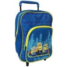 Kids Euroswan - Minions Mn16402 Cart Backpack Measures 31x25x10 Cm. - Bag -  kids minions bag despicable me trolley euroswan mn16402 cart backpack