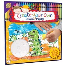Create Your Own Jigsaw With 36 Coloured Crayons -  create your own jigsaw 36 coloured crayons