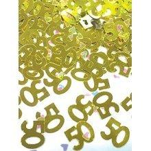 50th Gold Anniversary Metallic Confetti 14g -