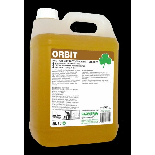 Clover Chemicals Orbit Neutral Carpet Floor Cleaner Upholstery Cleaner 5L