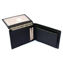Mens Small Genuine Real Leather Wallet Black Slim Luxury ID Holder
