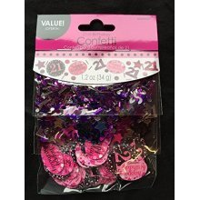 Pink Celebration 21st 3 Pack Value Confetti 34g -