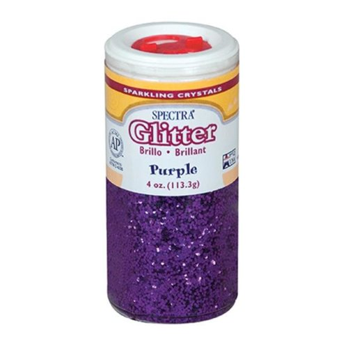 Pacon Corporation PAC91630 Spectra Glitter 4Oz Purple Sparkling Crystals
