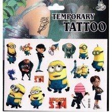 Minions Tattoo Sheet