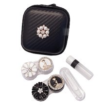 Fashion Contact Lens Case Set Eye Care Kit  Holder Personality Gift #01