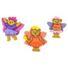 Fairy Bears - Novelty Craft Buttons / Embellishments by Dress It Up