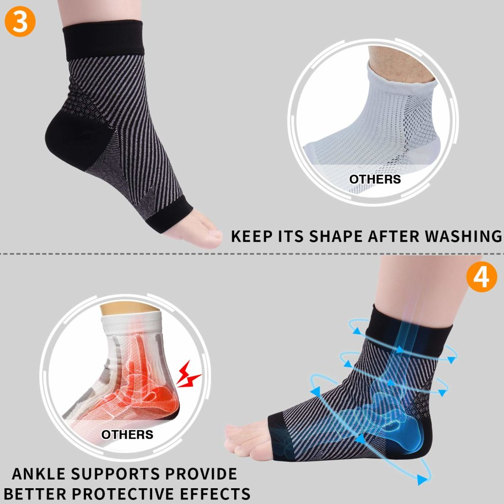 c27a52550e ... REIDAY Plantar Fasciitis Socks,Foot Compression Sleeve,Ankle  Support,Arch Support,Foot ...
