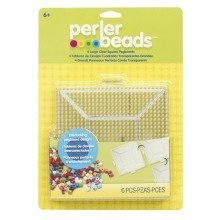 Prl22666 - Perler Beads - 4 Large Clear Replacement Pegboards