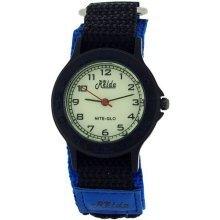 Relda Nite-Glo Quartz Luminous Dial Blue & Black Velcro Boys Watch REL54